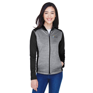 Devon & Jones Ladies' Colorblock Mélange Fleece Full-Zip Jacket