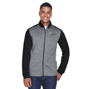 Devon & Jones Men's Colorblock Mélange Fleece Full-Zip Jacket
